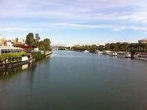 River Guadalquivir - Sevilla Spain. Alfonso III Canal stock photo