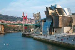 River and Guggenheim. Bilbao, Bizkaia, Spain Royalty Free Stock Photos