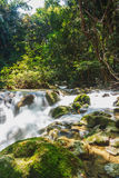 A river headwaters flows over rocks Stock Images