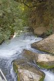 River Hermon ,Banias Nature Reserve in Israel Stock Photography