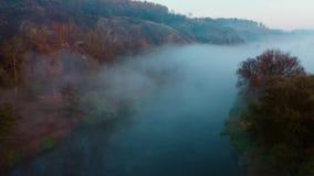 River hidden in mist