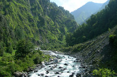 River in the high Himalayas, India Royalty Free Stock Image