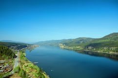 River and hill landscape Royalty Free Stock Image