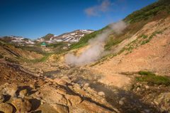 River on the hills of Mutnovsky Volcano Stock Images