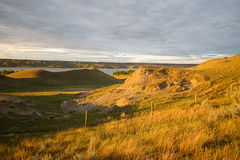River hills. At sunset in Canada Stock Image