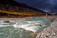 River in Himalaya. Somewhere in Kashmir, India Royalty Free Stock Photos