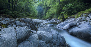 River in Hirkan national park in Lankaran Azerbaijan Royalty Free Stock Images