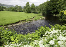 River Hodder. Near Clitheroe in the Forest of Bowland Stock Photos