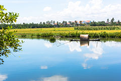 River in Hoi An. Blue river in Hoi An Stock Photography