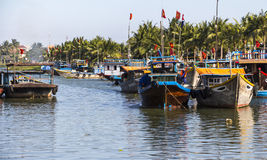 On the river of Hoi An, Vietnam Royalty Free Stock Photography