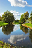 The river in Holland. Warm day Royalty Free Stock Photography