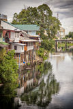 River homes in Thailand Royalty Free Stock Photography
