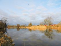 River Pakalne in autumn time, Lithuania Royalty Free Stock Photography