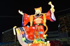River Hongbao 2018 God of Fortune Lantern Stock Image