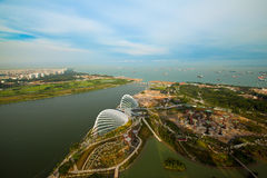 River Hongbao view from roof Marina Bay Stock Photos
