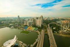 River Hongbao view from roof Marina Bay Hotel Royalty Free Stock Photos