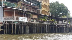 River house. The Chao Phraya River House of Thailand Stock Photos