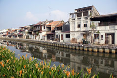 River and houses