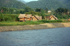 River and huts Royalty Free Stock Image