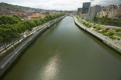 The river Ibaizabal, located on the North Coast of Spain in the Basque region. Stock Images