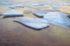 The river ice melts Stock Images