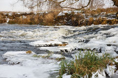 River ice. river in winter Stock Photography