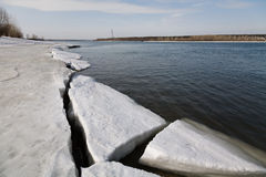 River with ice Stock Photos