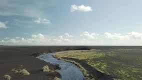 River in Iceland stock footage