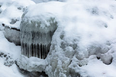 River Icicles. Icicles formed from a river in Wisconsin Royalty Free Stock Image