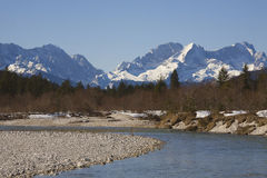 River idyl in Upper Bavaria Stock Photos