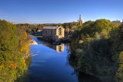 River Iller and Kempten Stock Photography