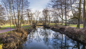 River ilm in the Goethe Park in Weimar Royalty Free Stock Image