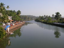 The river in India Royalty Free Stock Photo