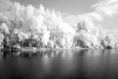 River in infra red. Spectrum Royalty Free Stock Photos