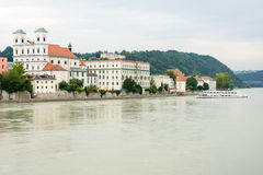 River Inn in Passau Royalty Free Stock Photos