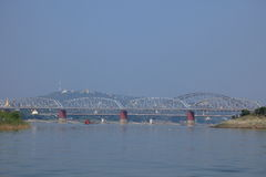 The river Irrawaddy in Myanmar Royalty Free Stock Image