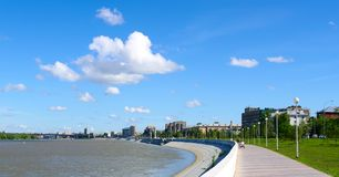 River Irtysh and quay.Omsk.Russia Royalty Free Stock Image
