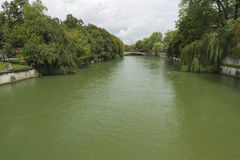 River Isar as it flows through Munich, Germany Royalty Free Stock Images