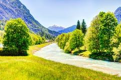 River Isar in the bavarain alps Royalty Free Stock Photos