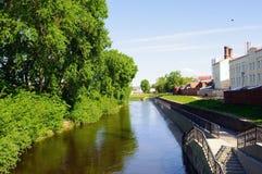 River Iset, Yekaterinburg city Royalty Free Stock Photo