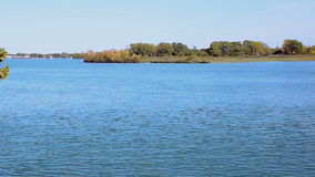 River and island. Video capture of river and island near Detroit, USA stock video footage