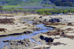 River Jalama Beach Lompoc California stock photo