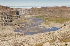 River Jokulsa a Fjollum canyon - Iceland. Stock Photography
