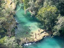 River in the jungle 2. Pristine water oasis in the Guatemala Royalty Free Stock Images