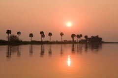 river kafuie słońca Zdjęcie Stock