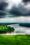 River Kama evening storm clouds top view of Tatarstan, Yelabuga Stock Photo