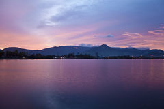 River in Kampot. Evening view of a river in Kampot, Cambodia Stock Image