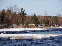 River in Karelia stock photo