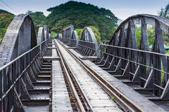 River Kawai Bridge, Kanchanaburi Royalty Free Stock Photography