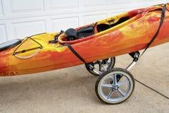 River kayak on a cart Royalty Free Stock Photo